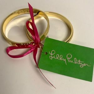 Lilly Pulitzer Gold Bangle Bracelet Set